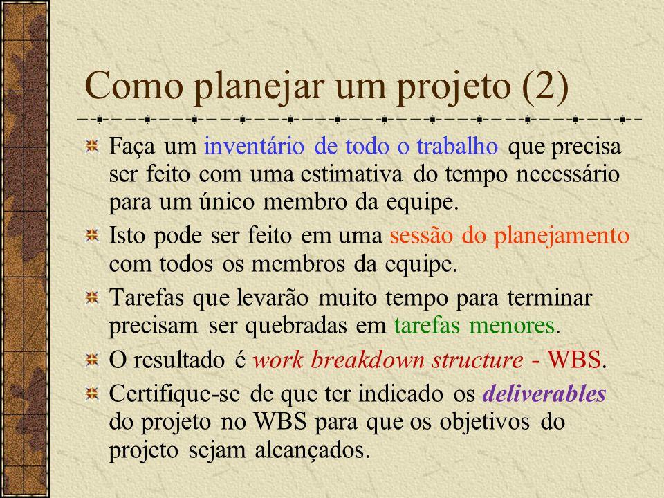 Como planejar um projeto (2)