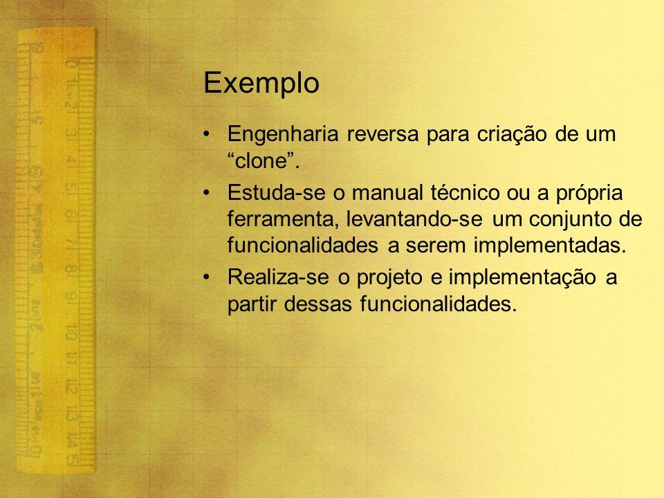 Exemplo Engenharia reversa para criação de um clone .