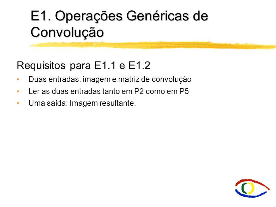 E1. Operações Genéricas de Convolução
