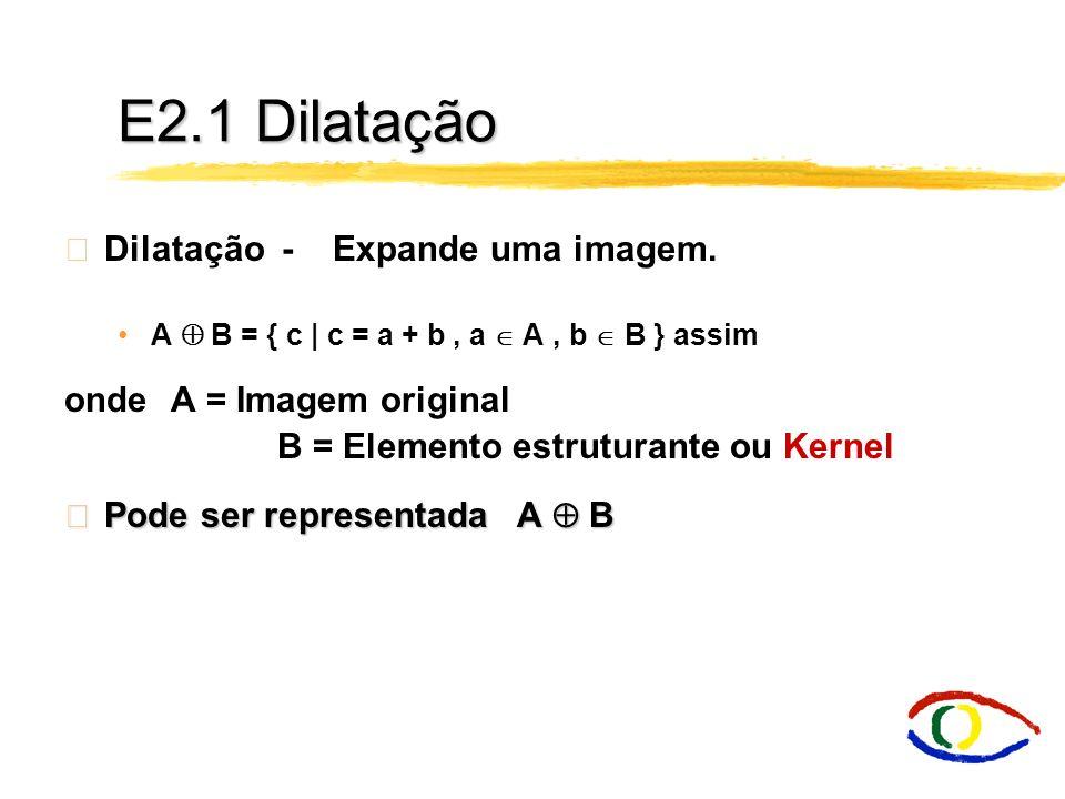 E2.1 Dilatação Dilatação - Expande uma imagem.