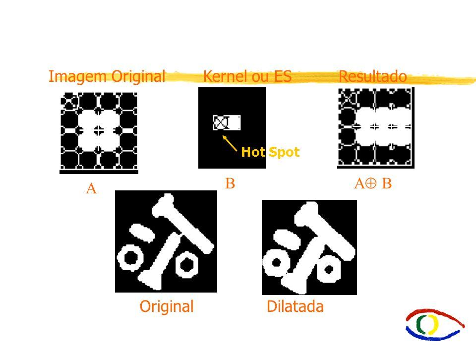Imagem Original Kernel ou ES Resultado B A B A Original Dilatada