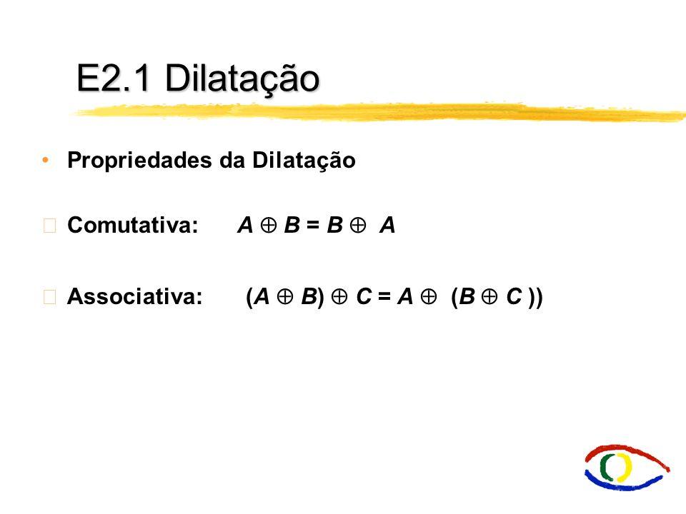 E2.1 Dilatação Propriedades da Dilatação Comutativa: A  B = B  A