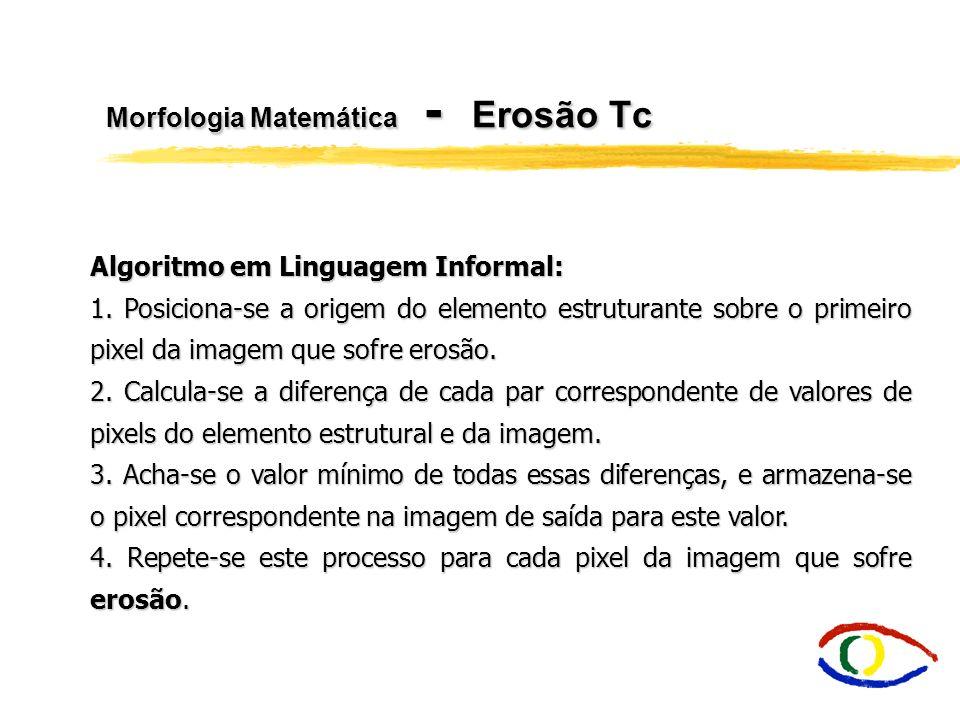 Morfologia Matemática - Erosão Tc