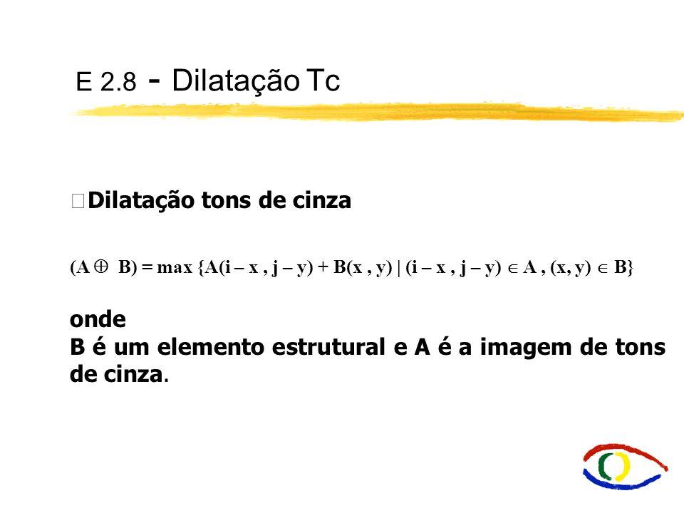 E 2.8 - Dilatação Tc Dilatação tons de cinza onde