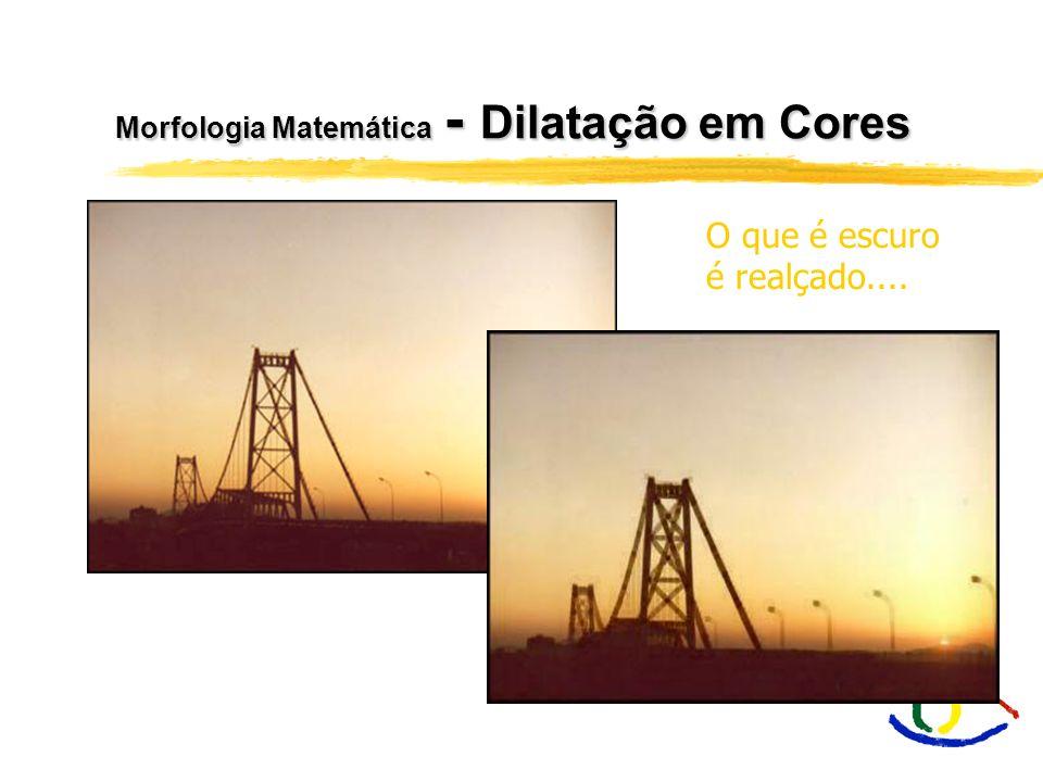 Morfologia Matemática - Dilatação em Cores