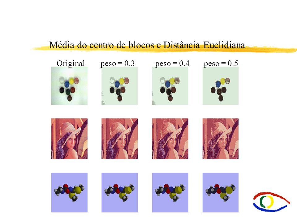 Média do centro de blocos e Distância Euclidiana