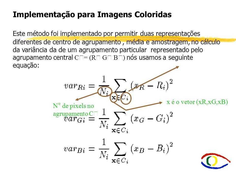 Implementação para Imagens Coloridas