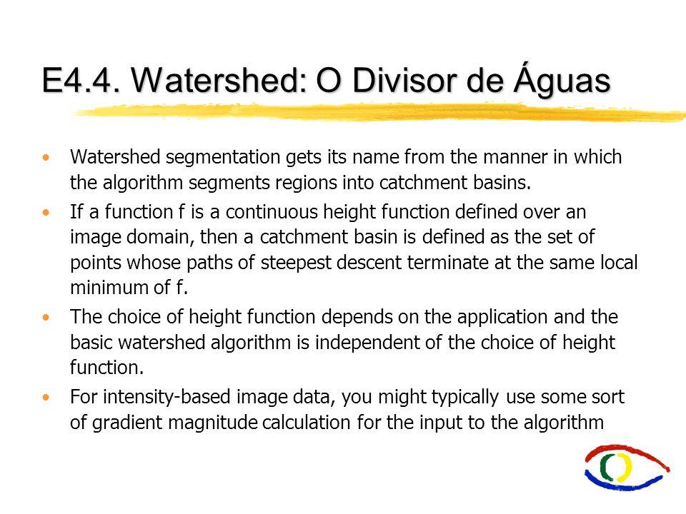 E4.4. Watershed: O Divisor de Águas