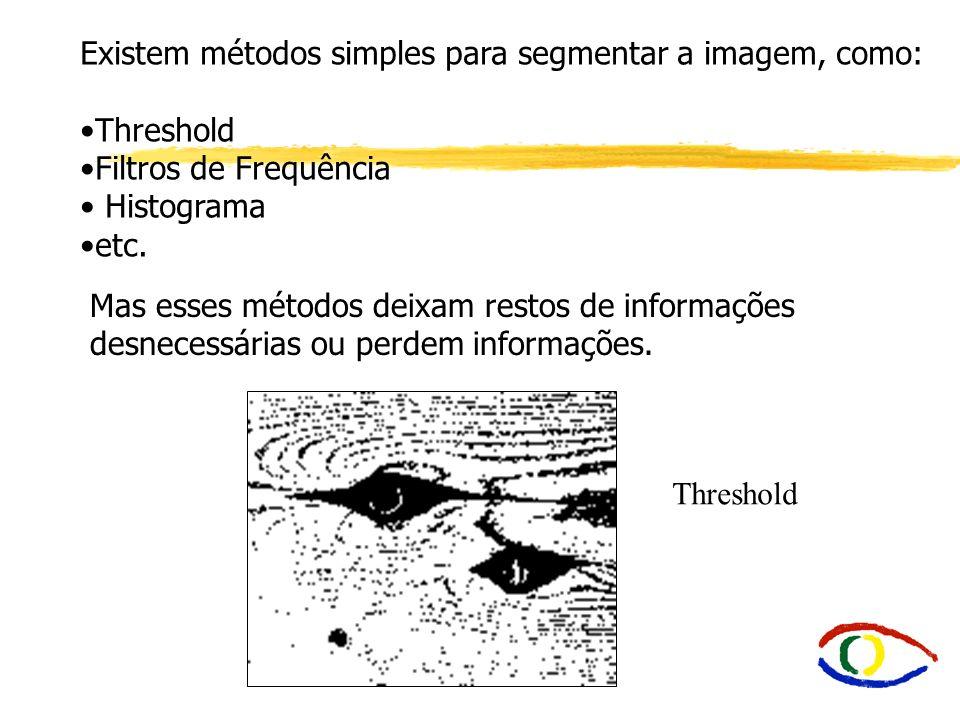 Existem métodos simples para segmentar a imagem, como: