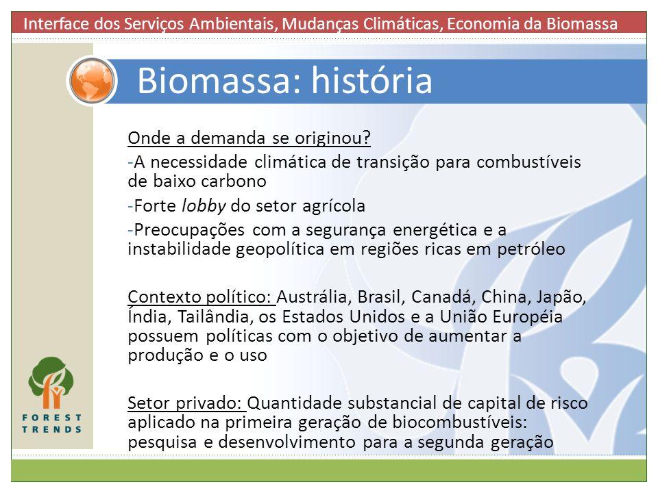 Biomassa: história Onde a demanda se originou