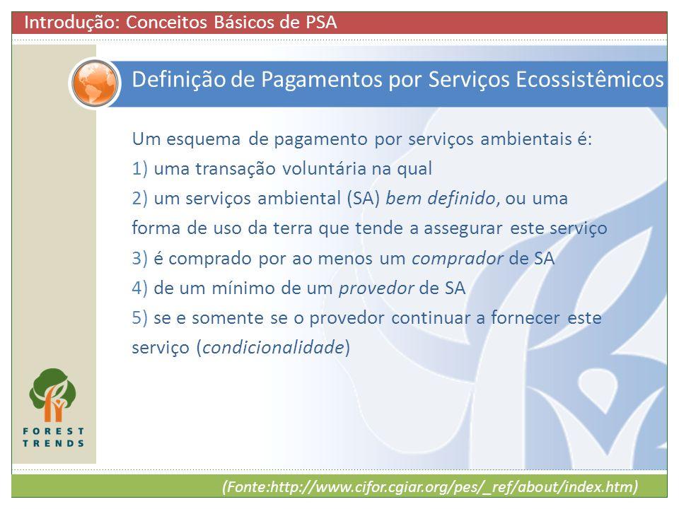 Definição de Pagamentos por Serviços Ecossistêmicos