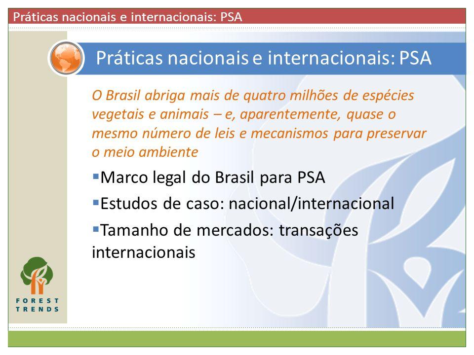 Práticas nacionais e internacionais: PSA