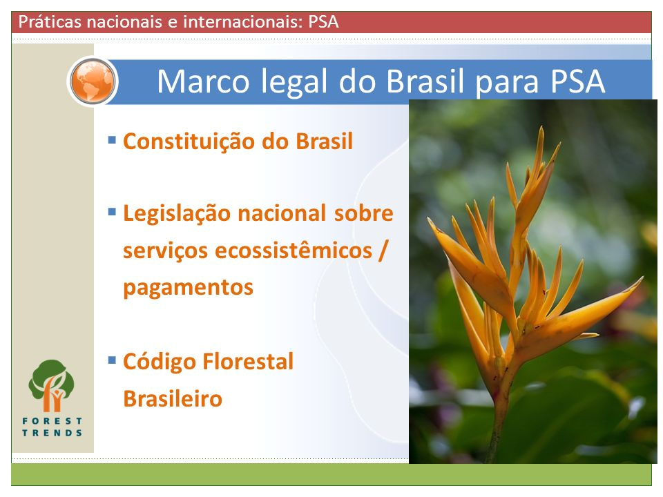 Marco legal do Brasil para PSA