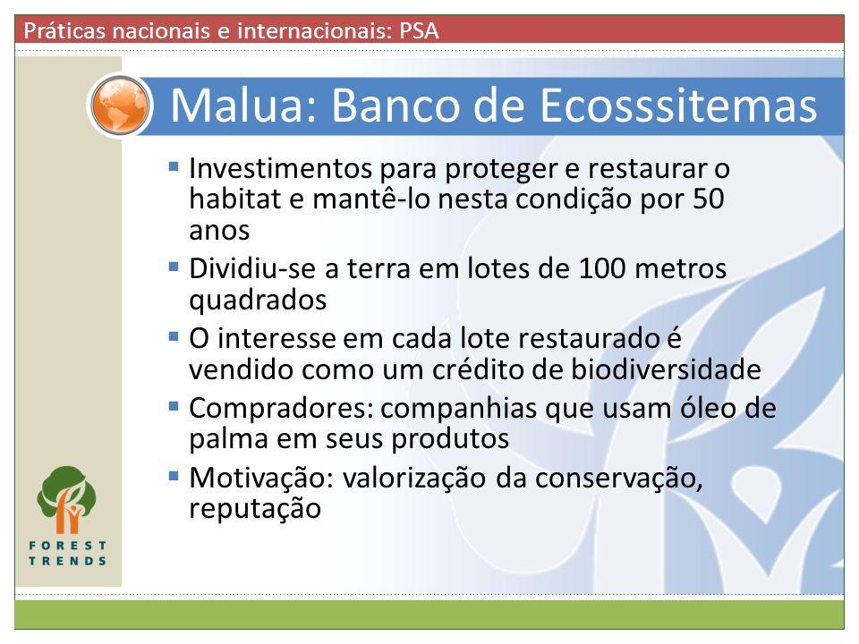 Malua: Banco de Ecosssitemas