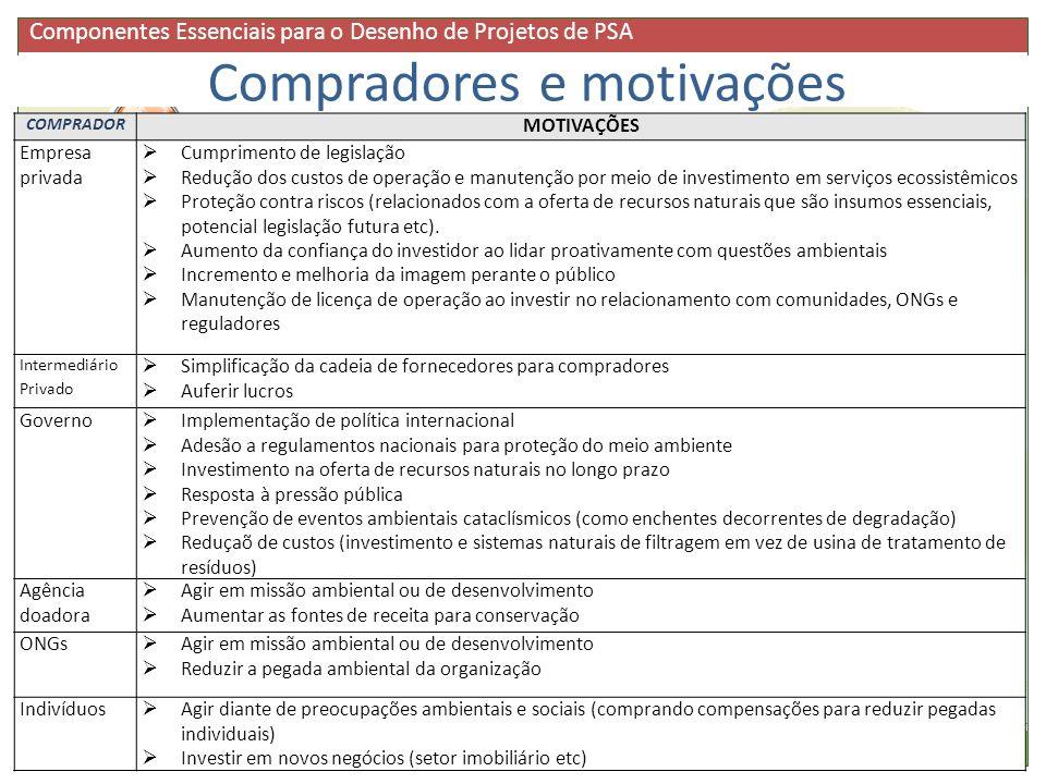 Buyers Compradores e motivações