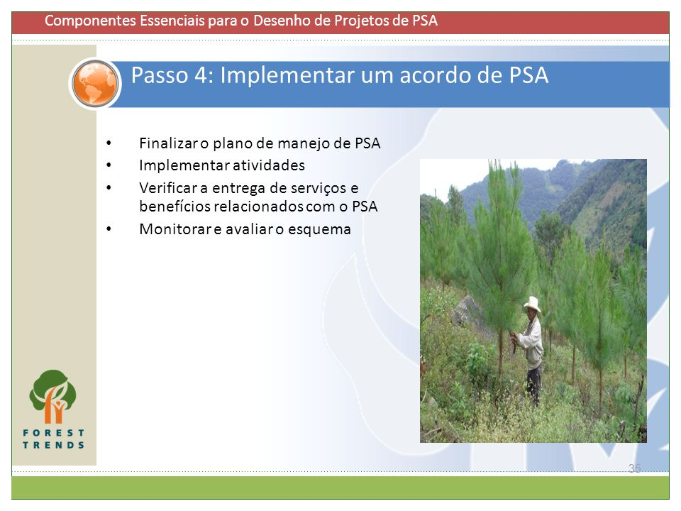 Passo 4: Implementar um acordo de PSA