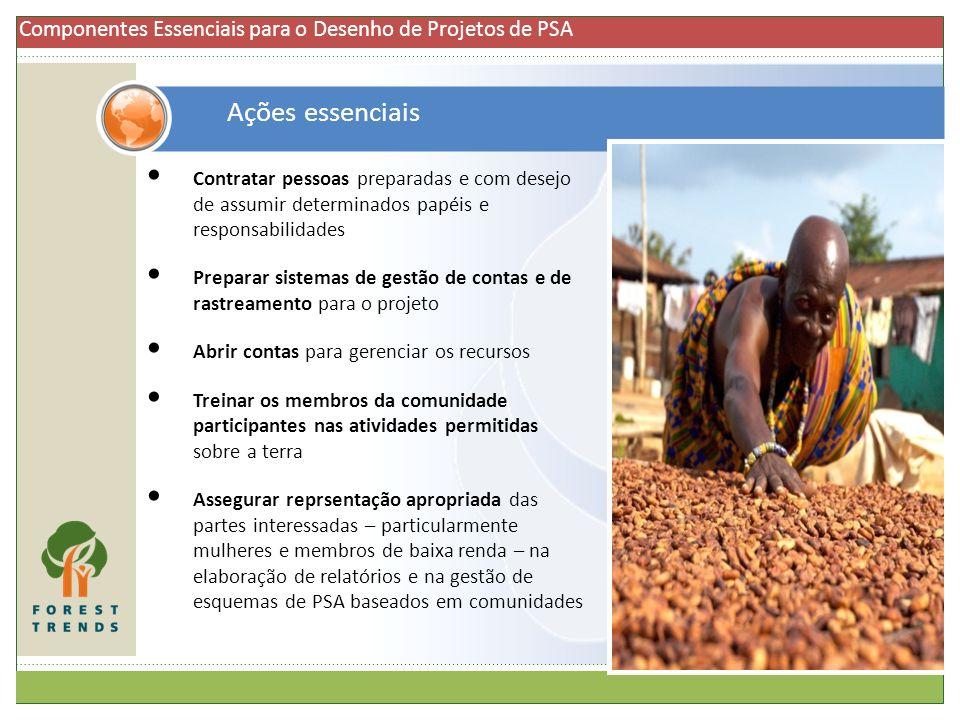 Componentes Essenciais para o Desenho de Projetos de PSA