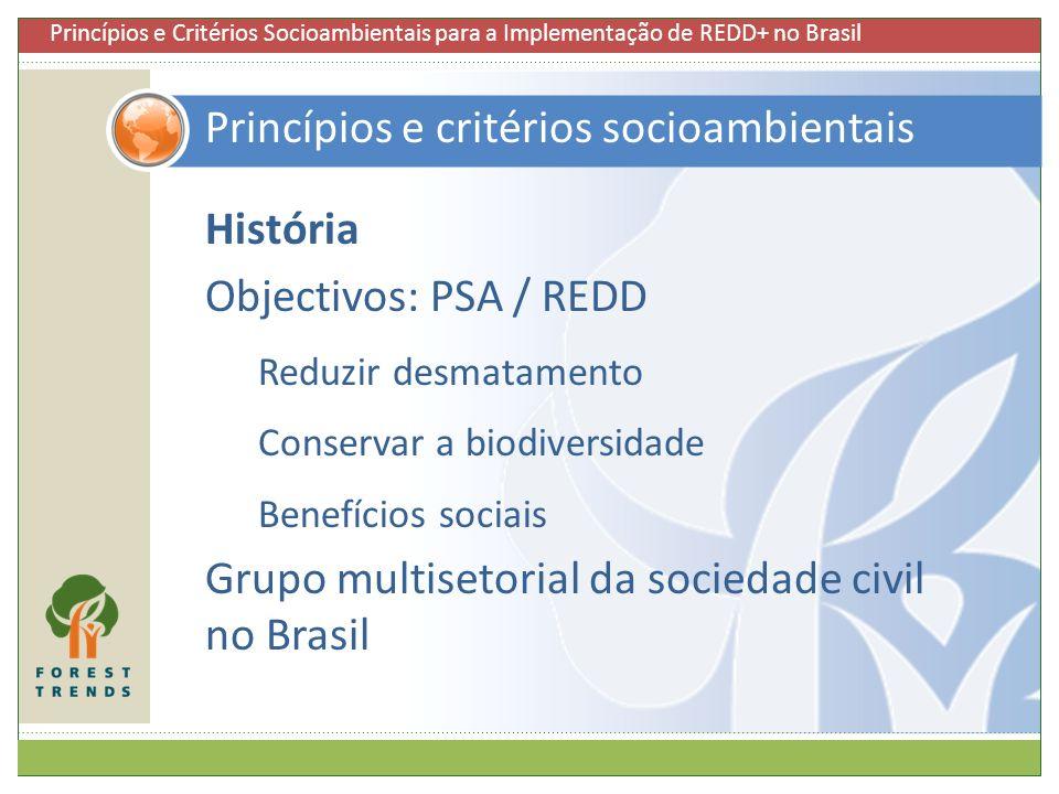Princípios e critérios socioambientais