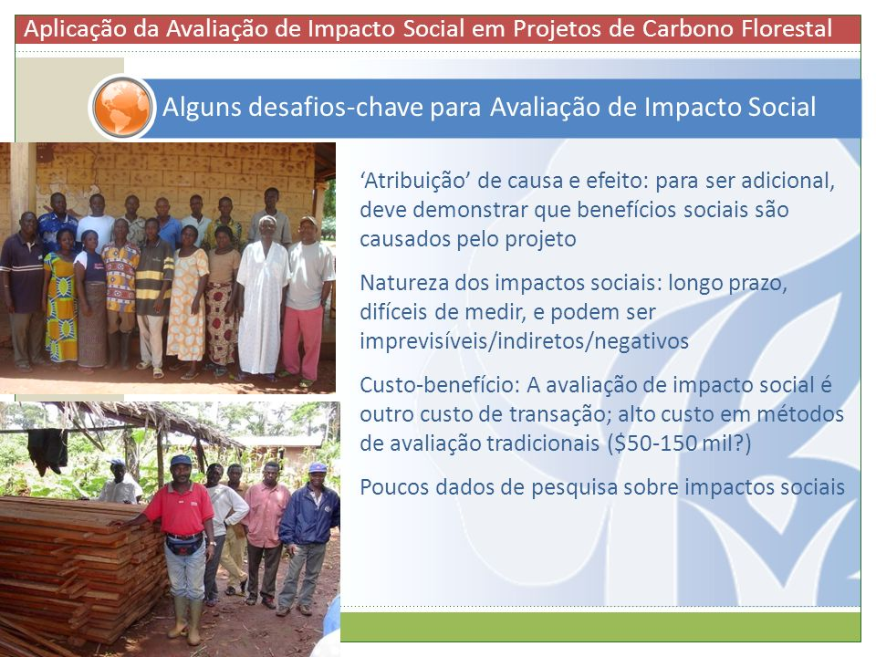 Alguns desafios-chave para Avaliação de Impacto Social
