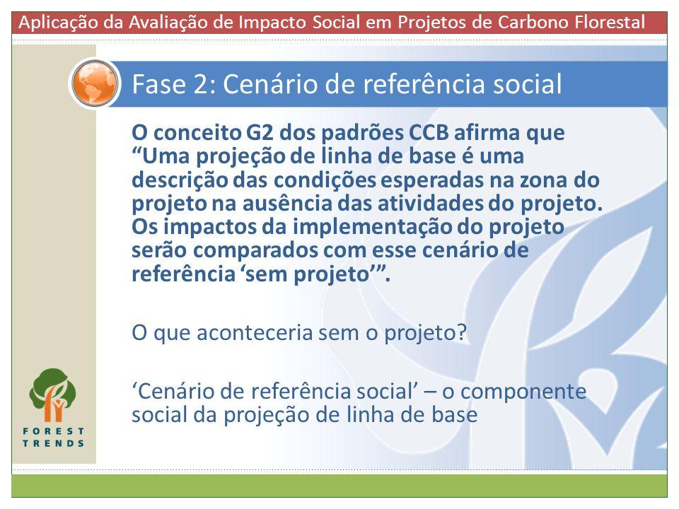 Fase 2: Cenário de referência social