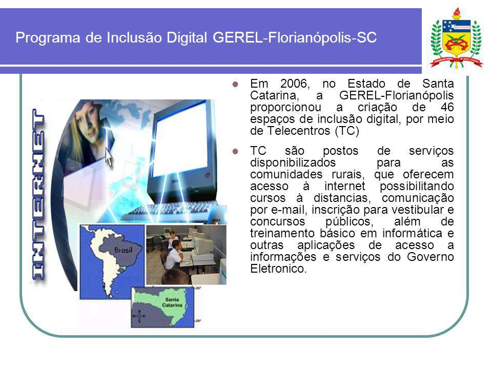 Programa de Inclusão Digital GEREL-Florianópolis-SC