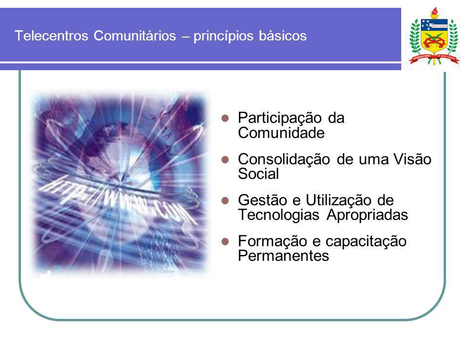 Telecentros Comunitários – princípios básicos