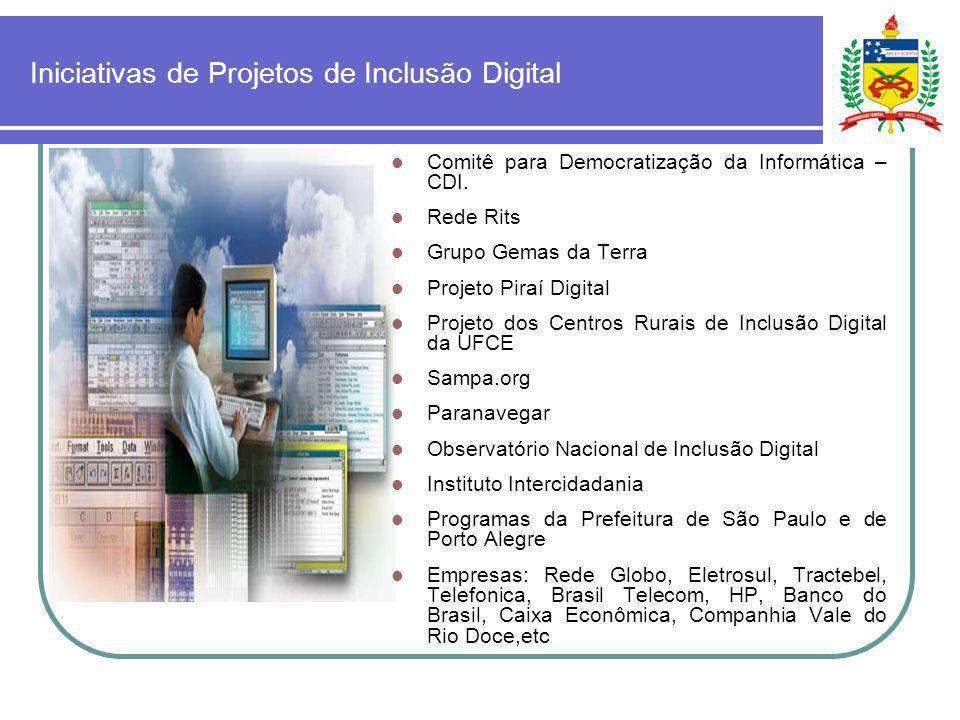 Iniciativas de Projetos de Inclusão Digital