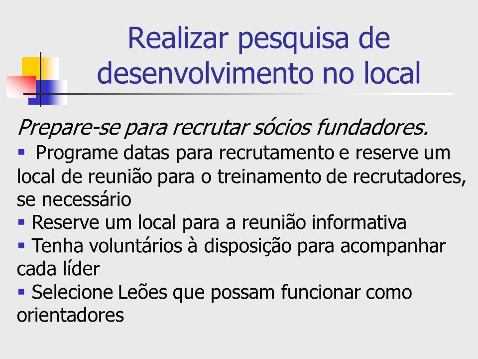 Realizar pesquisa de desenvolvimento no local