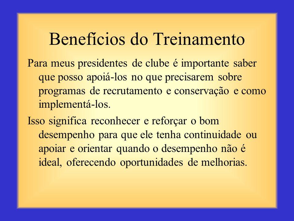 Benefícios do Treinamento