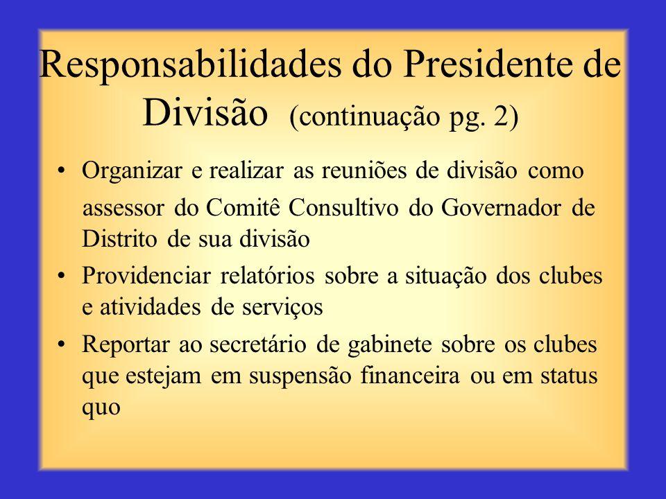 Responsabilidades do Presidente de Divisão (continuação pg. 2)