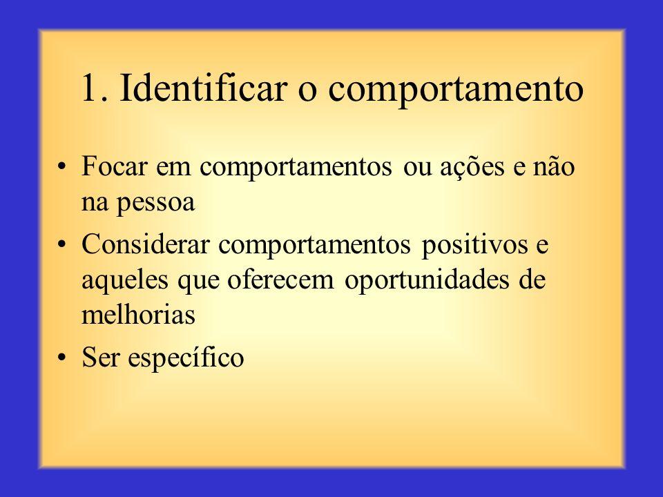 1. Identificar o comportamento