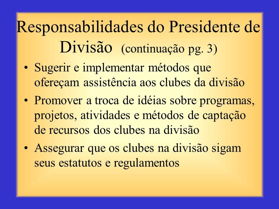 Responsabilidades do Presidente de Divisão (continuação pg. 3)