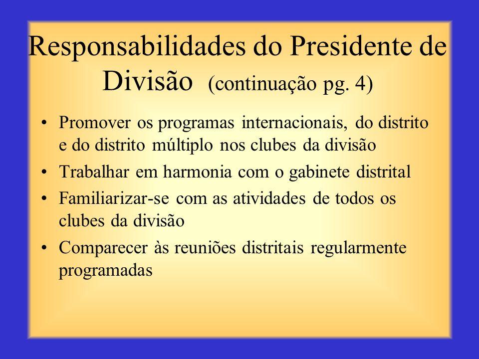 Responsabilidades do Presidente de Divisão (continuação pg. 4)