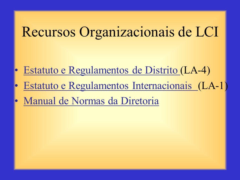 Recursos Organizacionais de LCI