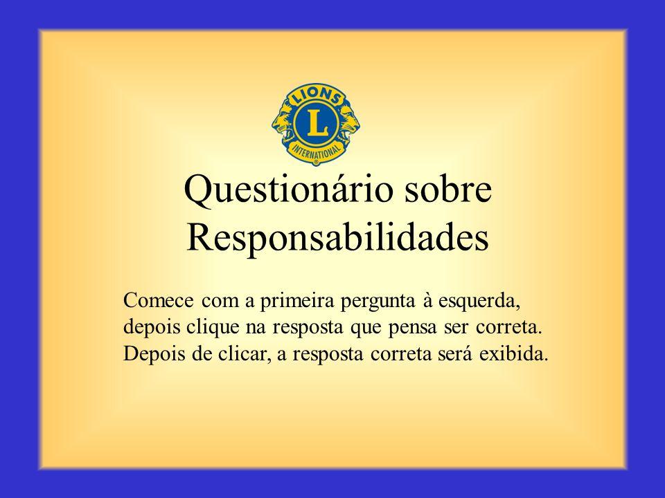 Questionário sobre Responsabilidades