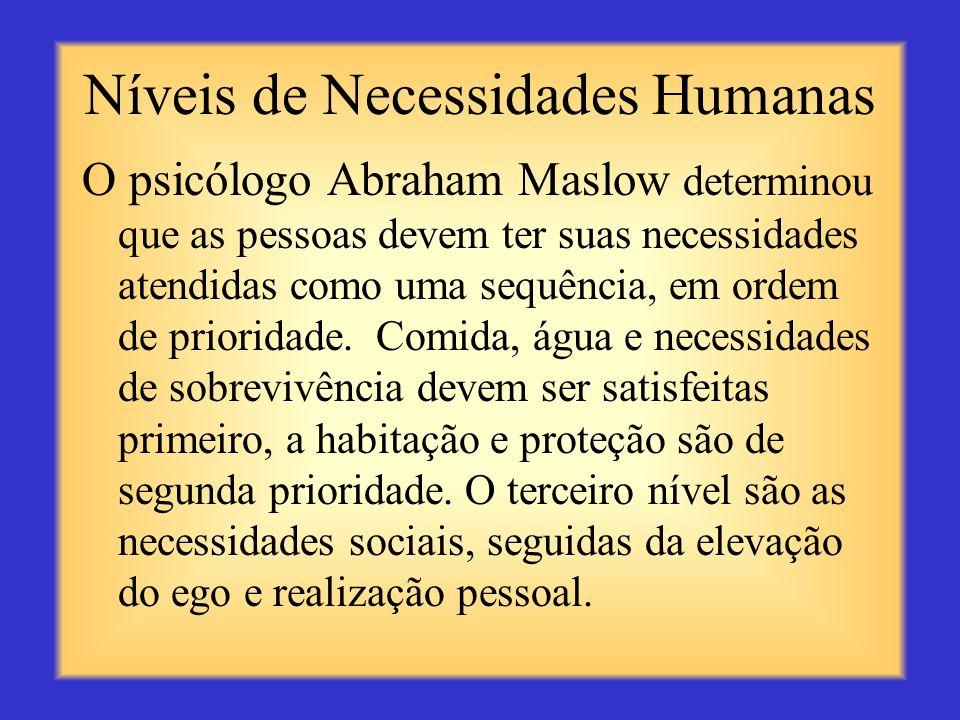 Níveis de Necessidades Humanas