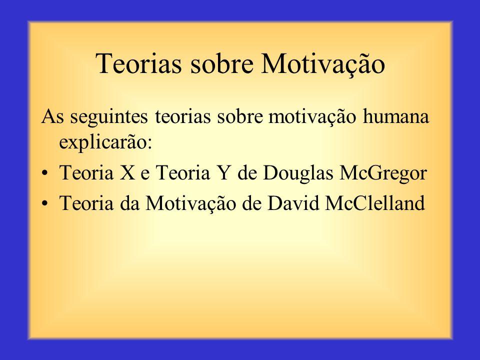 Teorias sobre Motivação