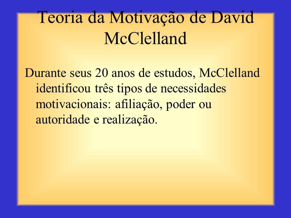 Teoria da Motivação de David McClelland