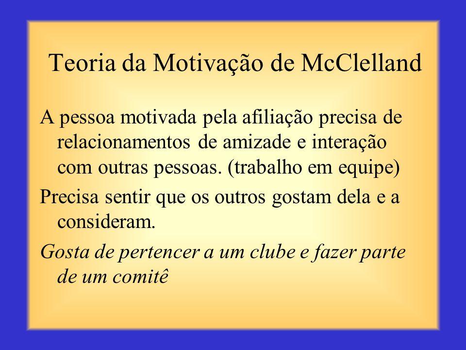 Teoria da Motivação de McClelland