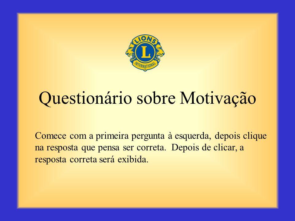 Questionário sobre Motivação