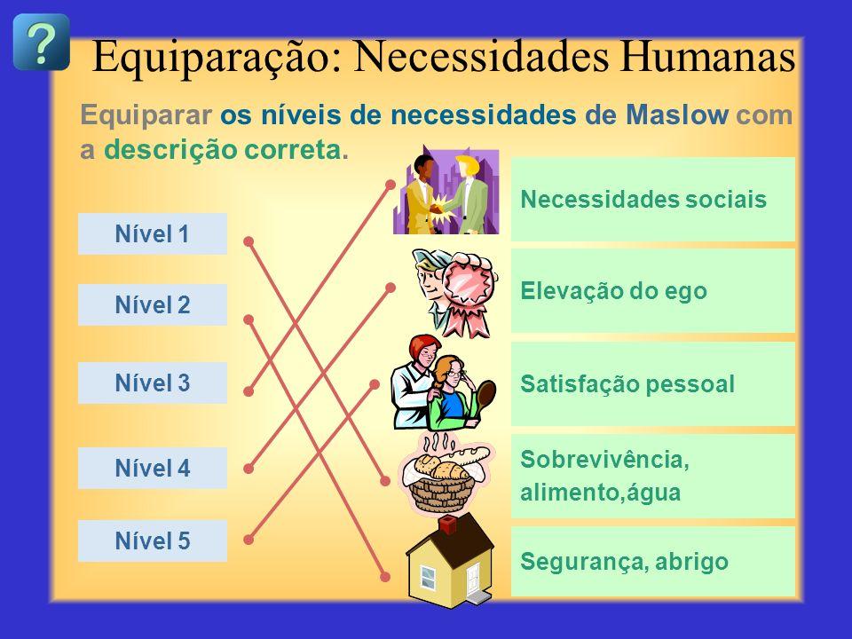 Equiparação: Necessidades Humanas