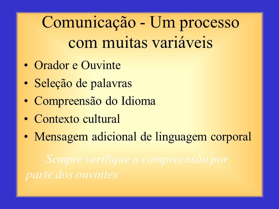 Comunicação - Um processo com muitas variáveis