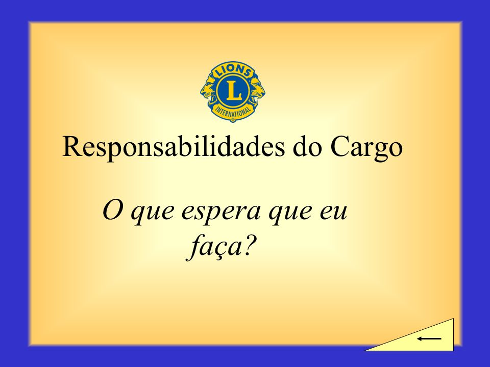 Responsabilidades do Cargo