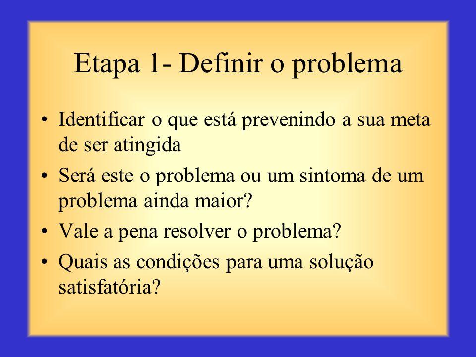 Etapa 1- Definir o problema