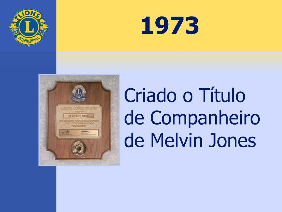 1973 Criado o Título de Companheiro de Melvin Jones