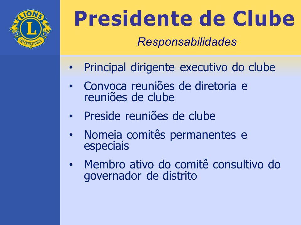 Presidente de Clube Responsabilidades