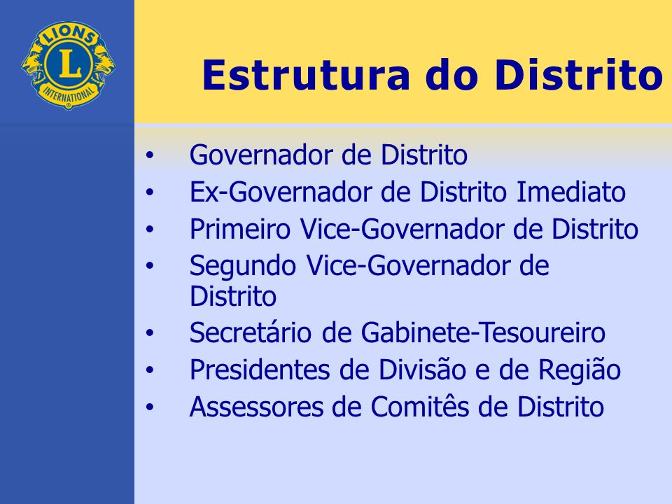 Estrutura do Distrito Governador de Distrito