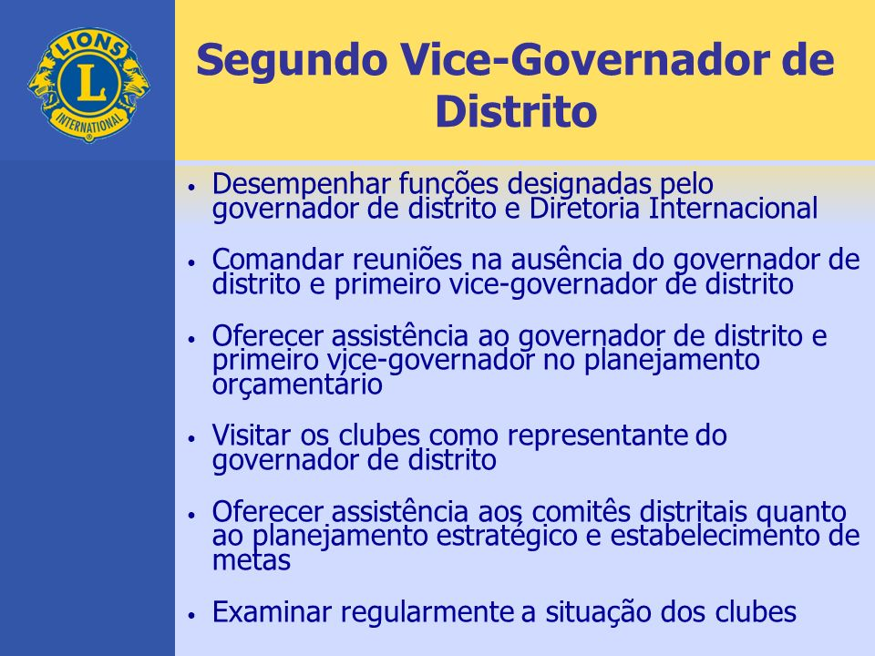 Segundo Vice-Governador de Distrito