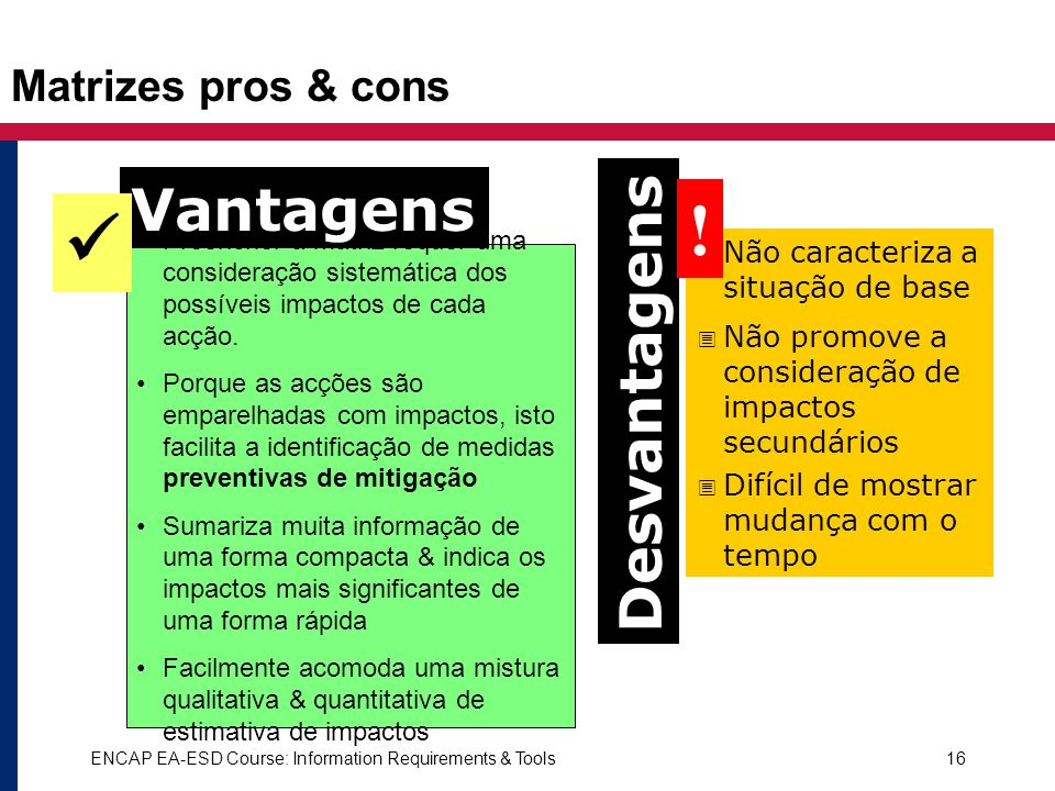 !  Vantagens Desvantagens Matrizes pros & cons