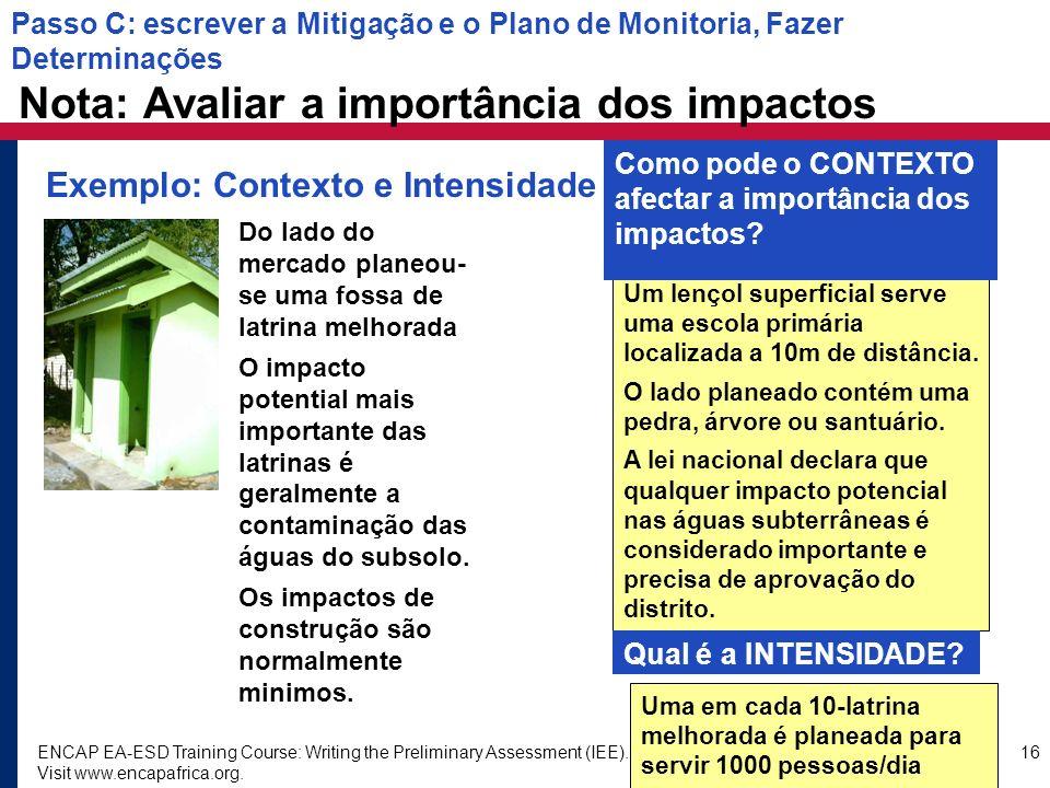 Exemplo: Contexto e Intensidade